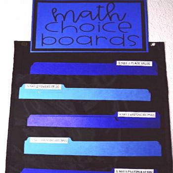 Activities for Early Finishers (Upper Elementary) - Teaching with Jennifer Findley Choice boards ar