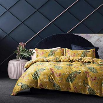 Eikei Home Chinoiserie Chic Peacock Floral Duvet Cover