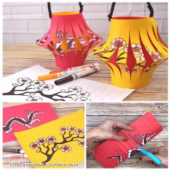 How to Make a Chinese Lantern- A Chinese New Year Craft - The Kitchen Table Classroom Make Chinese