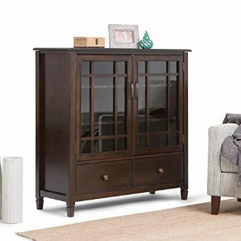 SIMPLIHOME Connaught SOLID WOOD 46 inch Wide Traditional