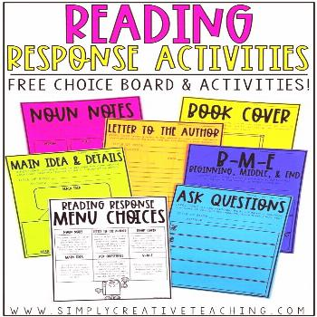 These reading response activities are perfect for 2nd, 3rd, 4th, and 5th grade students. This resou