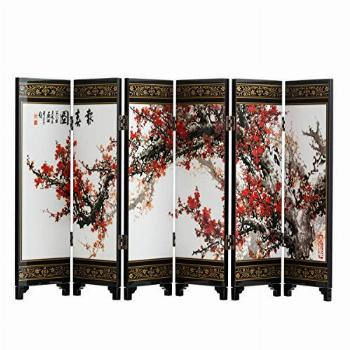 TJ Global 6-Panel Traditional Chinese Art for Home