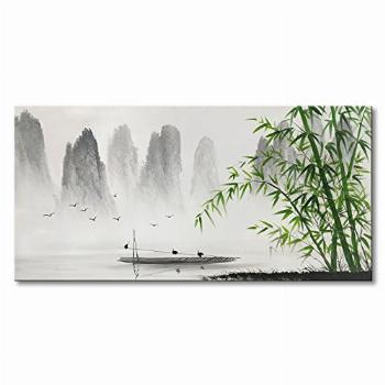 Traditional Chinese Painting Black and White Landscape