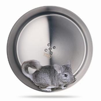 YKD 12.6quot Stainless Steel Silent Chinchilla Exercise Wheels
