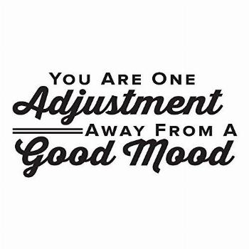 You Are One Adjustment Away From A Good Mood. - 0317 - Home